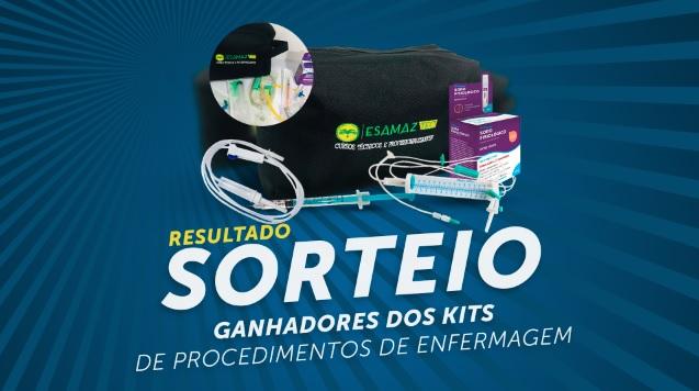 Confira a lista de ganhadores dos Kits de Procedimento de Enfermagem